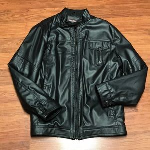 Ministry of Fashion Men's Faux Leather Jacket, L